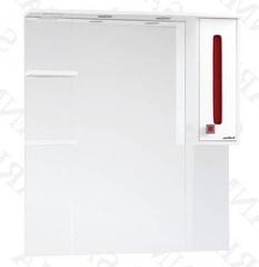 Зеркало-шкаф SanMaria Париж-90 красный, правый