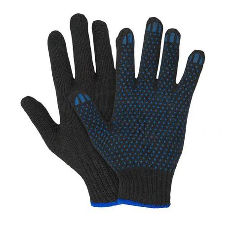 Перчатки ХБ с ПВХ черные (7/60-62)