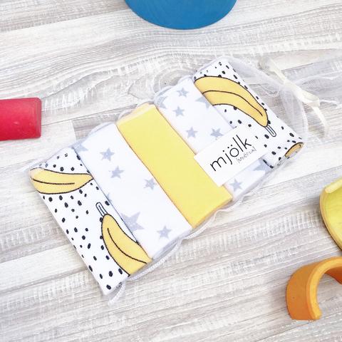 Набор платочков-слюнявчиков Mjölk  Бананы