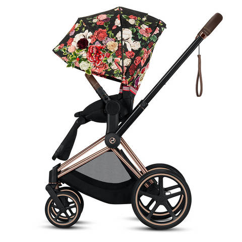 Прогулочная коляска Cybex Priam III FE Spring Blossom Dark