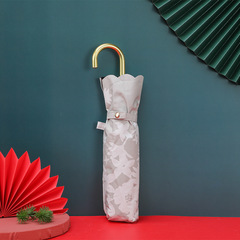 Суперлегкий зонт, ручка крюк, женский, с защитой от УФ, механика, 6 спиц (серый, цветы)