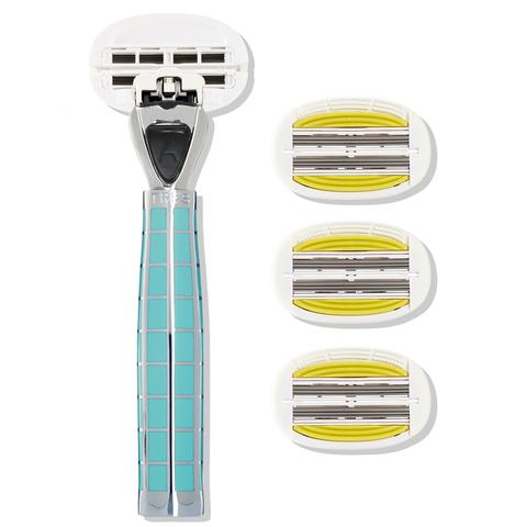 Shave Lab TRES Bali Breeze для женщин Бали бриз/серебро, комплект 6+(с увлажняющей подушечкой) лезвий х 4шт.