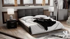 Кровать мягкая тип 1 «Элис» (Темная)