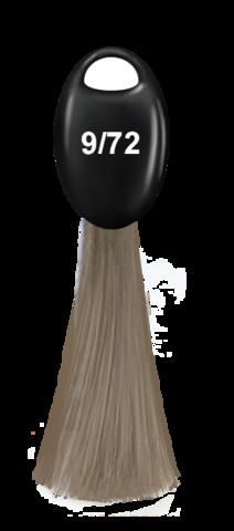 OLLIN N-JOY  9/72 – блондин коричнево-фиолетовый, перманентная крем-краска для волос 100мл