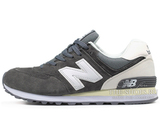 Кроссовки Мужские New Balance 574 Premium Suede Grey White