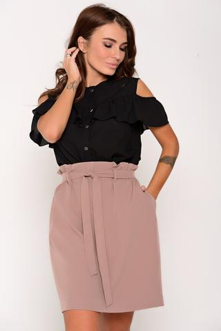 Модная юбка в стиле CASUAL. Можно носить куда угодно и когда угодно. Рекомендуем!!! Свободный силуэт , по талии резинка с поясом. Функциональные карманы.  (Длина 51см все размеры)