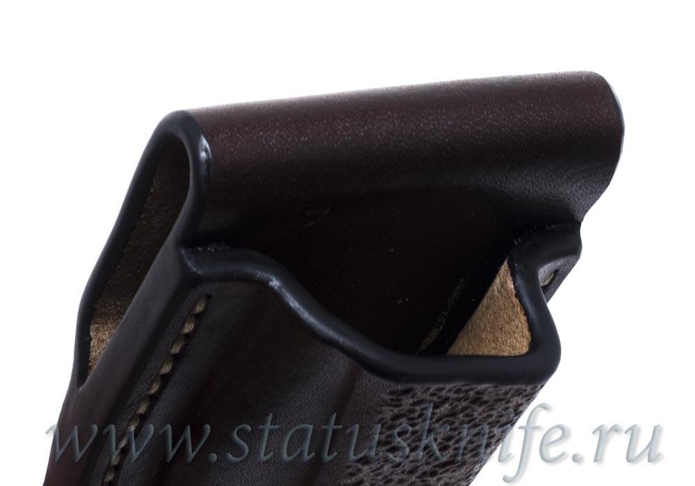 Чехол кожаный коричневый Brown Buck 110 - фотография