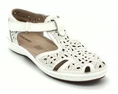 Белые кожаные сандали на платформе