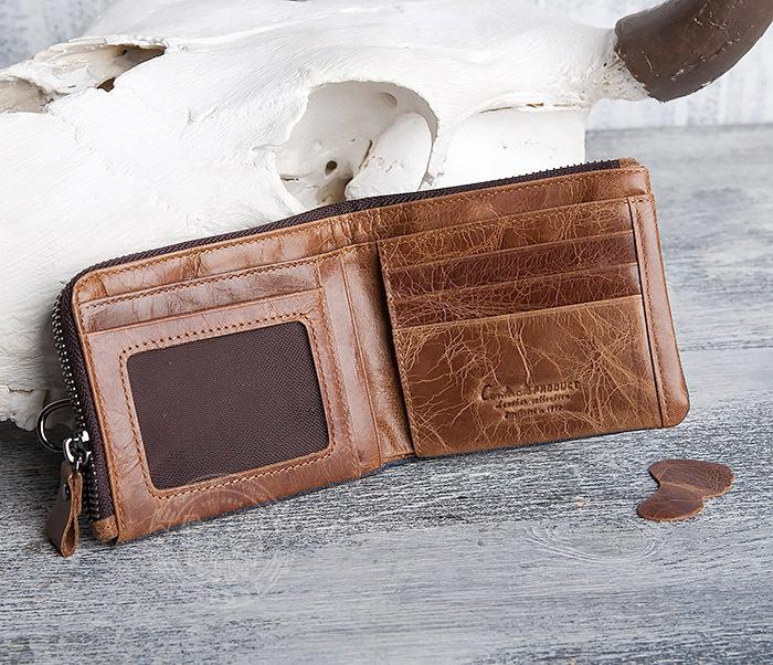 WL278-2 Необычное мужское портмоне из кожи с дополнительным отделением фото 04