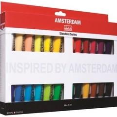 Краски акриловые Amsterdam 24 цвета по 20 мл