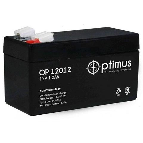 OP 12012 аккумулятор 12В/1,2Ач Optimus