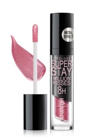 BelorDesign Smart Girl Супер стойкий блеск для губ Million kisses тон 214 розовый металлик