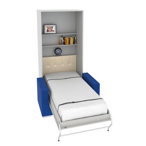 Шкаф-кровать с диваном вертикальная односпальная 90 см