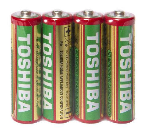Батарейки Toshiba R6 красная, AA (4/40/200)
