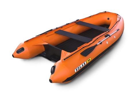 Надувная ПВХ-лодка Солар - 380 Jet Tunnel (оранжевый)