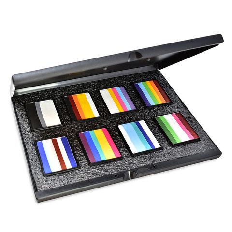 MEHRON Набор аквагрима в кейсе Paradise Makeup AQ™ Prisma (8 расцветок по 50 г)