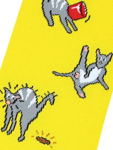 Носки Коты желтые