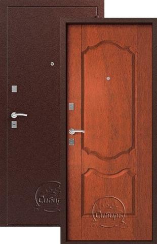 Дверь входная Сибирь S-1/1, 2 замка, 1 мм  металл, (медь+итальянский орех)