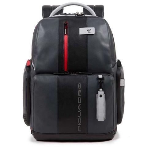 Рюкзак Piquadro Brief (CA4550BRBM/GRN) серый/черный кожа
