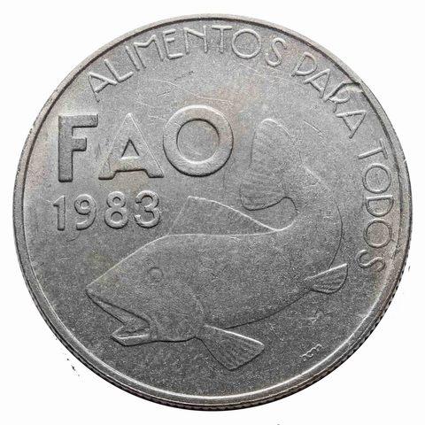 25 эскудо. F.A.O. Рыба 1983 год