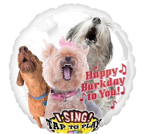 Поющий шар Собаки «Happy Birthday» 71 см