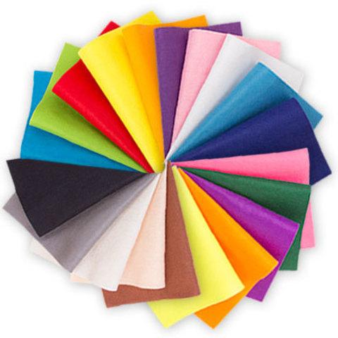 Фетр листовой FET-1 30*45 см. 1 мм (выбрать цвет)