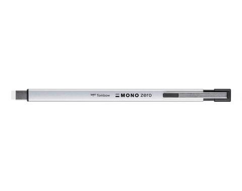 Ручка-ластик Tombow MONO Zero Eraser - Metal Type (прямоугольный наконечник, 2,5х5 мм, серебристый)