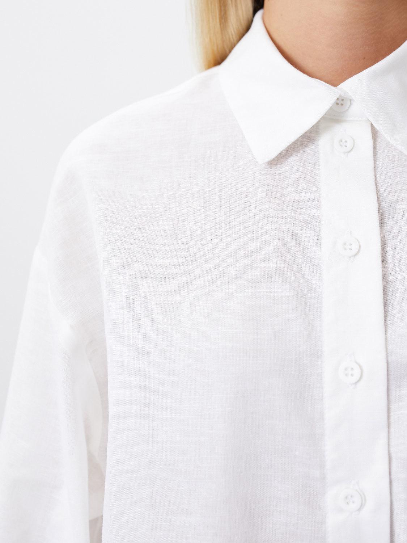 Рубашка Danny укороченная с кулисой, Белый
