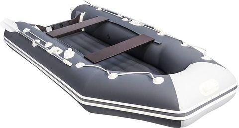 Лодка ПВХ АКВА 3200 НДНД графит / светло-серый