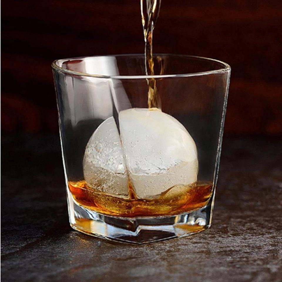 Силиконовая форма для льда шар 4 секции Большие шарики фото