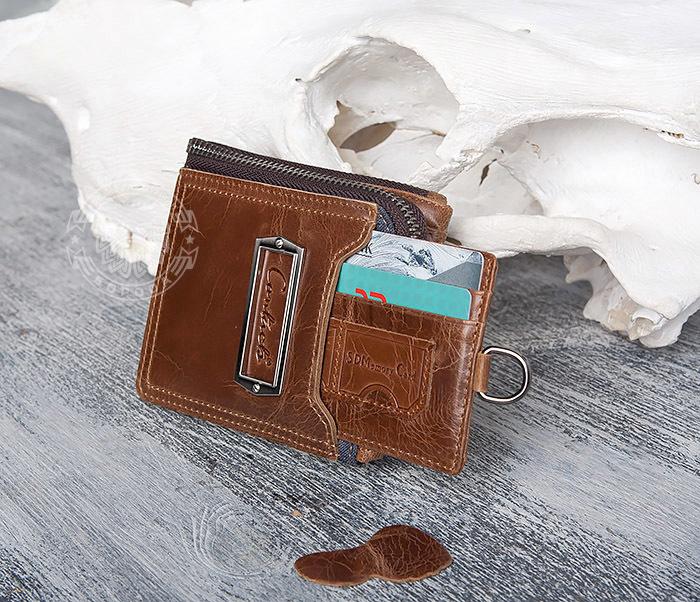 WL278-2 Необычное мужское портмоне из кожи с дополнительным отделением фото 11