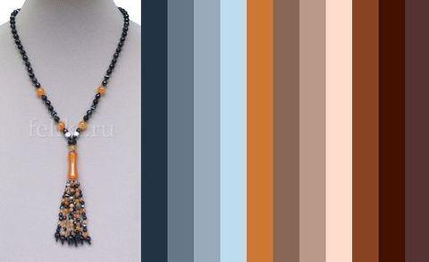 примерная цветовая палитра для одежды под бусы Альтамира