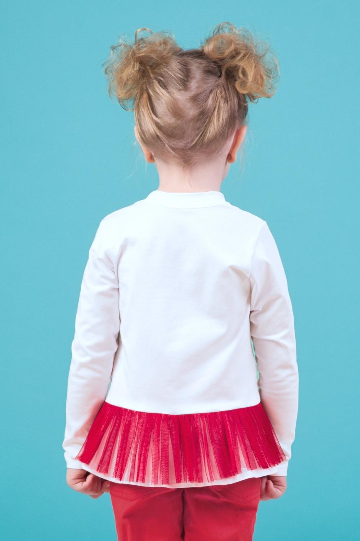 Свитшот белый для девочки 44-9002-2