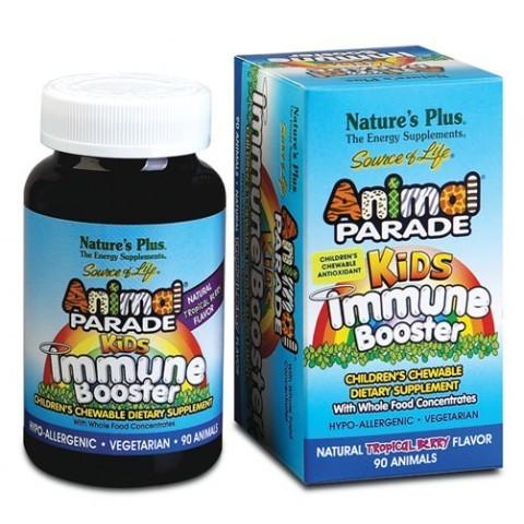 Добавка для укрепления детского иммунитета, вкус натуральных тропических ягод, 90 животных Nature's Plus, Source of Life, Animal Parade