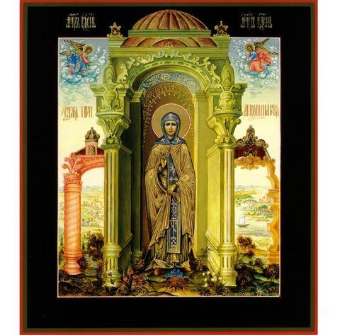 Икона святая преподобная Аполлинария на дереве на левкасе мастерская Иконный Дом