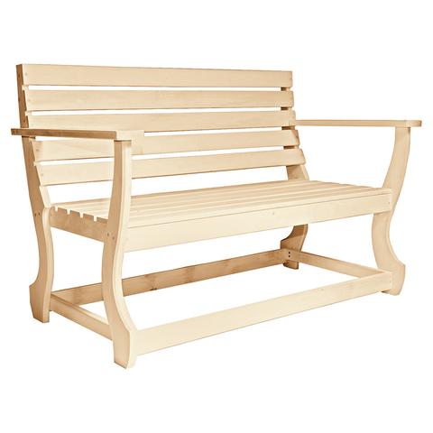 Скамья с подлокотником с фигурными ножками 140х61х90 см