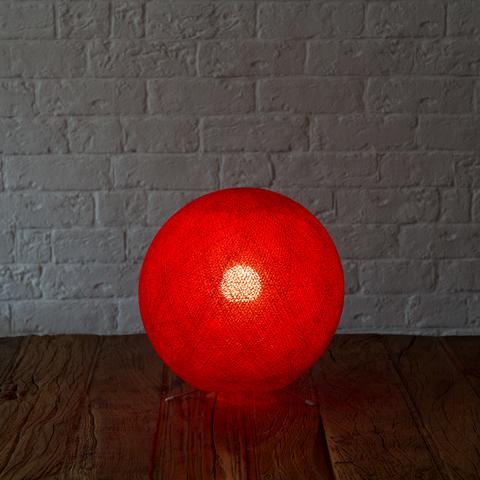 Хлопковый светильник красный
