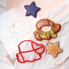 Трафарет и вырубка Мальчик солдат форма для пряника, мастики, печенья