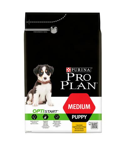 Pro Plan сухой корм для щенков (курица, рис) 3 кг