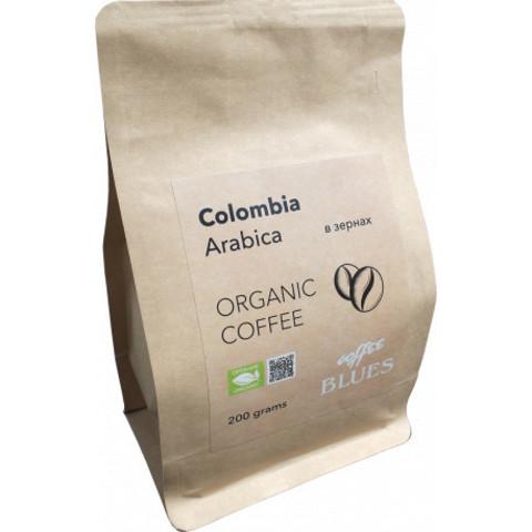 Blues Coffee, кофе органический в зернах, Colombia Organic, 200 гр