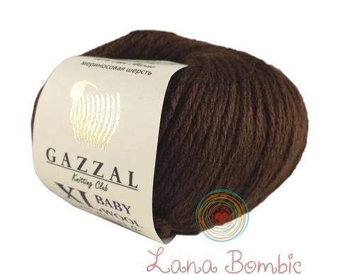 Пряжа Gazzal Baby Wool XL коричневый 807