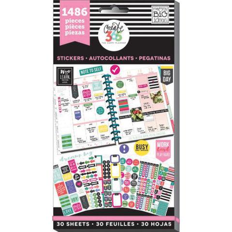 Блокнот со стикерами для ежедневника Create 365 Happy Planner Sticker Value Pack- Everyday, 1486 шт