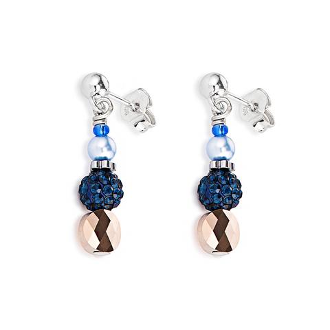 Серьги Coeur de Lion 4867/21-0721 цвет синий