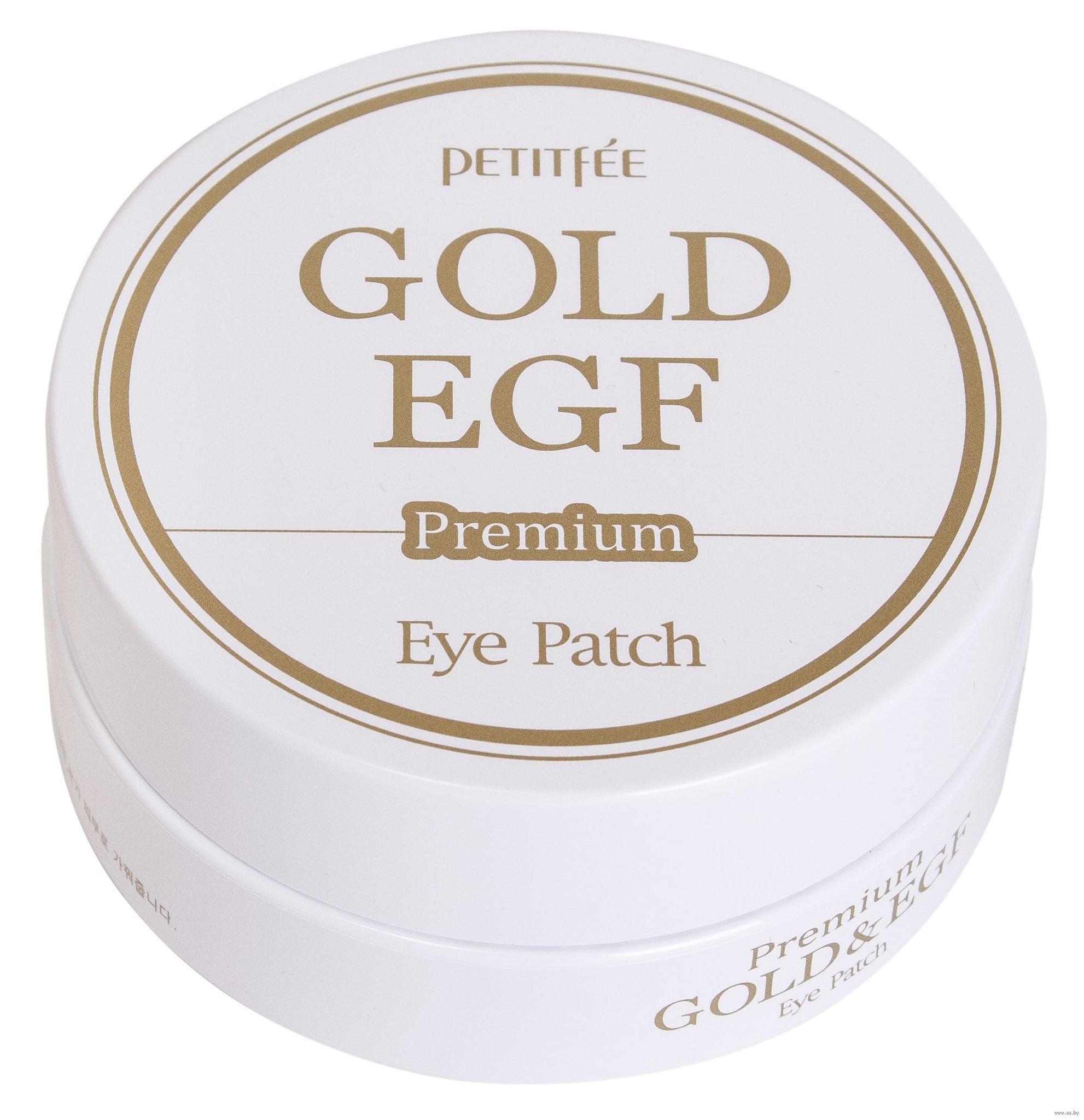 Гидрогелевые патчи для век с частицами золота - Petitfee Premium Gold & EGF Eye Patch