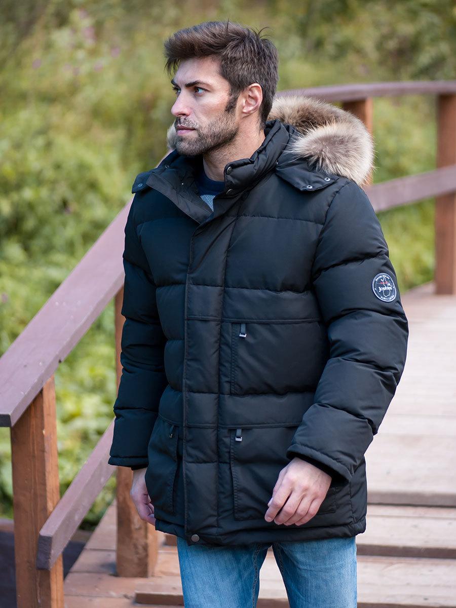 Joutsen пуховик Arctic Star Fur черный - Фото 1