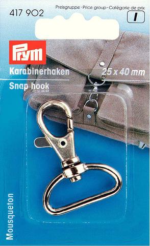 Карабин для сумки 25х40мм серебристый (Арт. 615902)