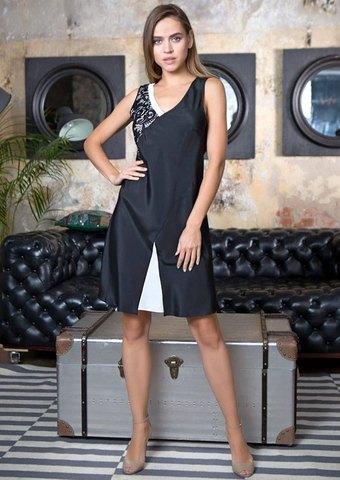 Черное с белым платье для отдыха Black&White