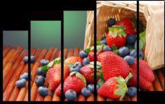 """Модульная картина """"Лесные ягоды"""""""