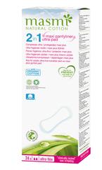 MASMI УНИВЕРСАЛЬНЫЕ прокладки  2 в 1 Soft Maxi Plus из органического хлопка  (на каждый день и для  цикла), 24шт