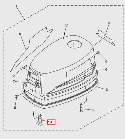 Защелка  для лодочного мотора T5 Sea-PRO (1-4)